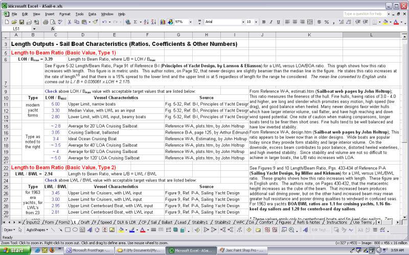 Advanced Sailboat Parameter Calculations And Checks